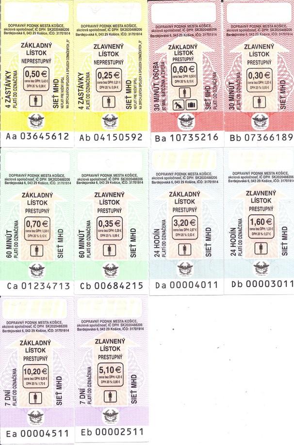 Ceny A Vzory Cestovnych Listkov Dopravny Podnik Mesta Kosice